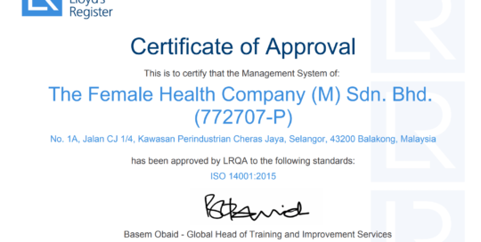 ISO 14001 certificate thumb