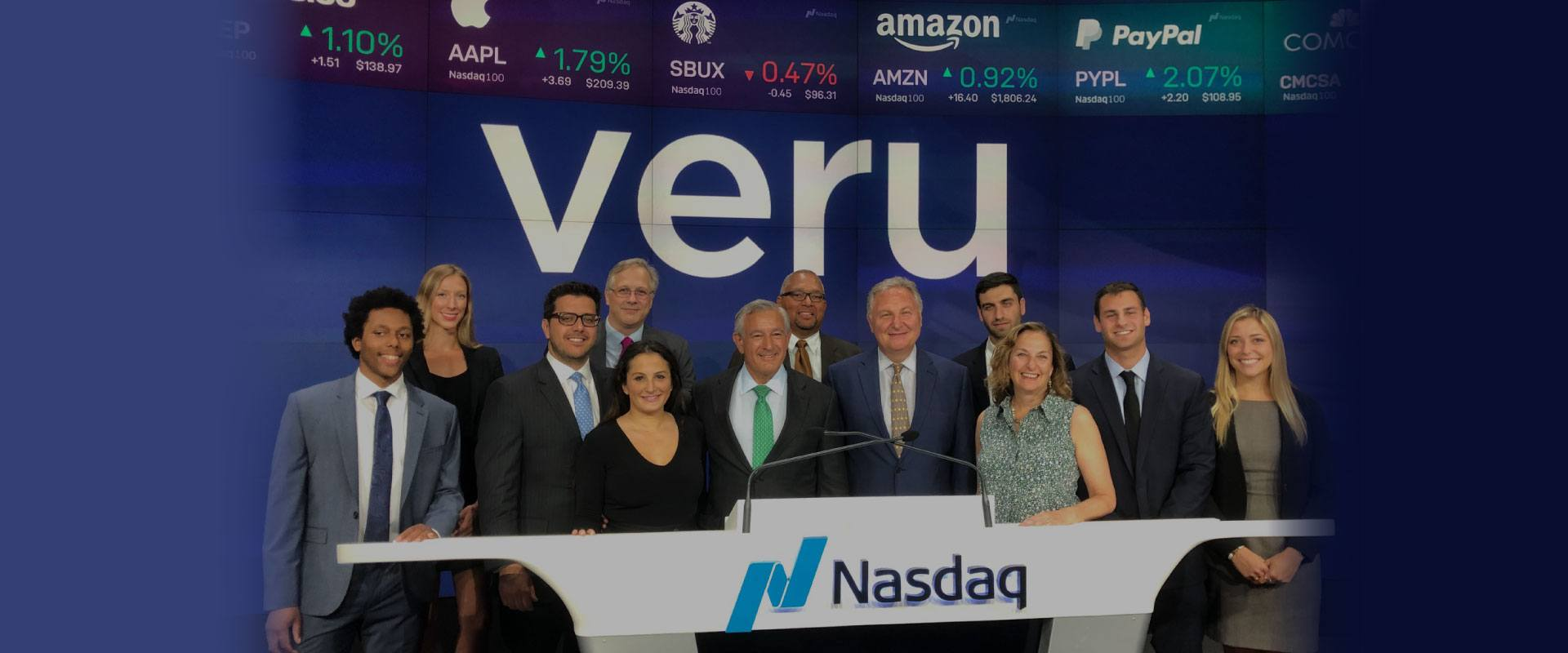 Veru Team at NASDAQ